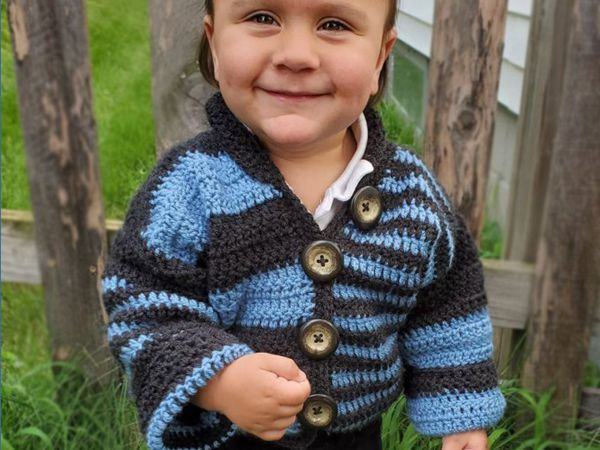 crochet Offbeat Baby Cardigan free pattern
