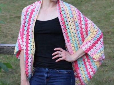 crochet Shine Your Light Shrug free pattern