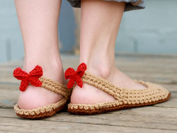 crochet Slingbacks Slipper easy pattern