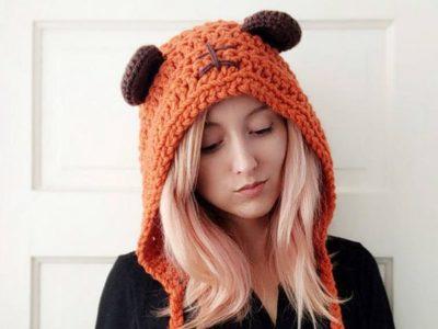 crochet Star Bear Hat easy pattern