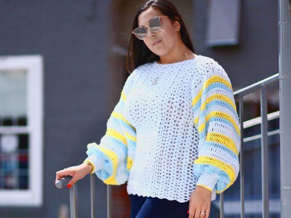 crochet Summer Fun Sweater free pattern
