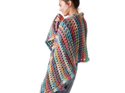 crochet TURKISH STITCH CROCHET SHAWL free pattern