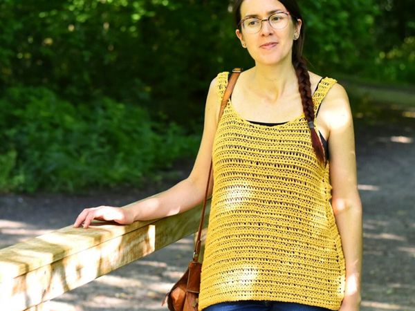 crochet Tunisian Summer Top free pattern