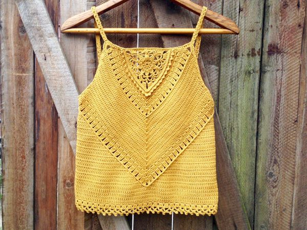 crochet Veronica Tank Top easy pattern