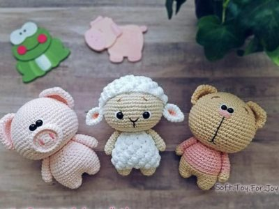 Crochet Piggy Sheep Cat Amigurumi easy pattern