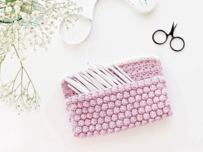 crochet Bobble Clutch Bag easy pattern
