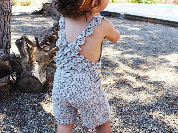 crochet Bonnie romper easy pattern
