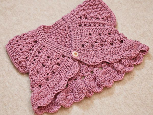 crochet Butterfly Shrug easy pattern