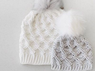 crochet Camdyn Cable Hat easy pattern
