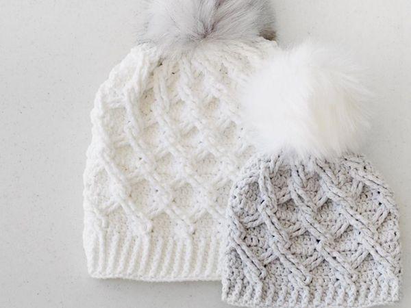 crochet Camdyn Cable Hat easy pattern
