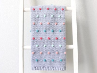 crochet Colorful Polka Dots Baby Blanket free pattern