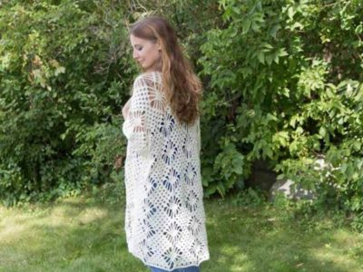 crochet Crystalized Boho Cardigan free pattern