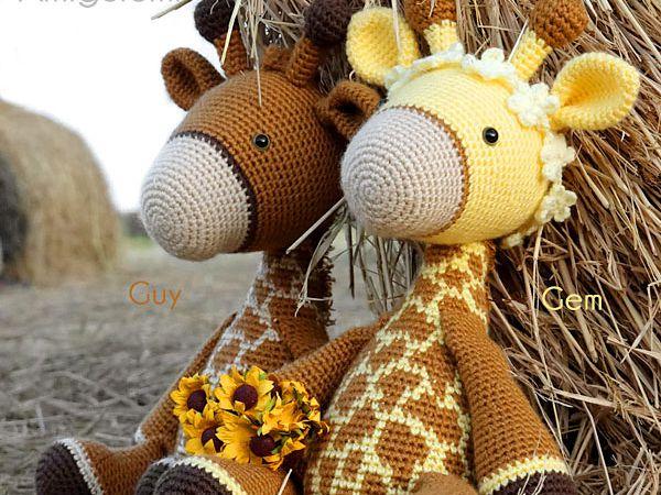 crochet Gem Guy Giraffe Amigurumi free pattern