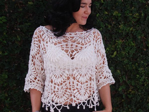 Kiara Crochet Top easy pattern