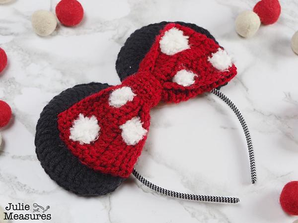 crochet Minnie Mouse Ears free pattern