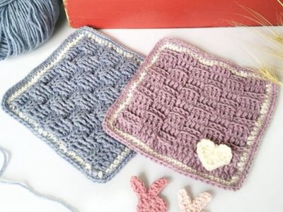 crochet Preemie Bonding Square free pattern