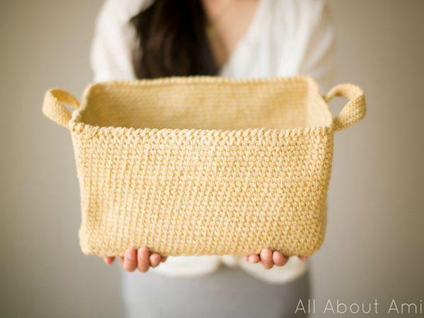 crochet Rustic Tweed Basket free pattern
