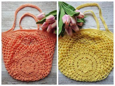 crochet Sakura Market Bag free pattern