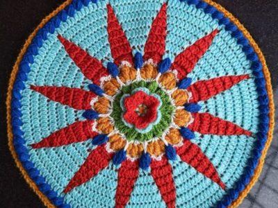 crochet Sunshine Mandala free pattern