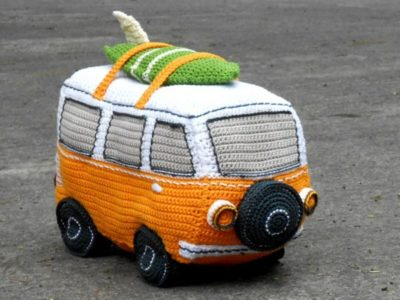 crochet Surf Van Amigurumi easy pattern