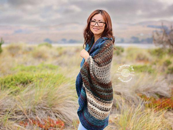 crochet TUNISIAN Blanket Sweater easy pattern