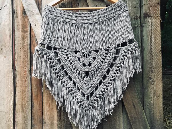 crochet The Spirit Poncho easy pattern