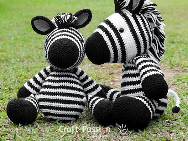 crochet ZeeZee Zebra Amigurumi free pattern
