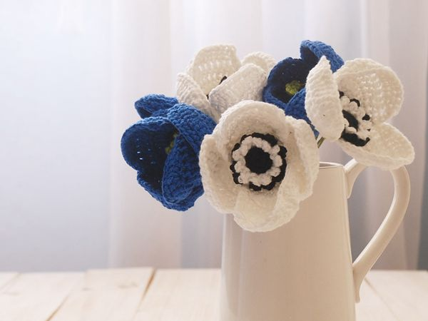 crochet Anemone Flower free pattern