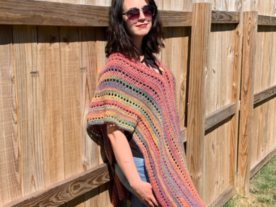 crochet Autumn Bliss Poncho free pattern