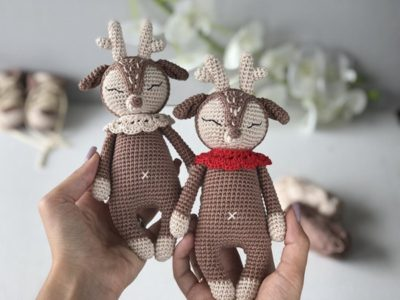 Crochet Deer Toy easy pattern
