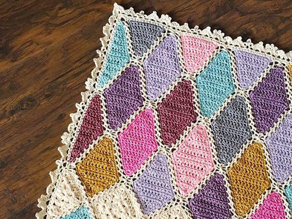 crochet GEMMA CROCHET BLANKET PATTERN easy pattern