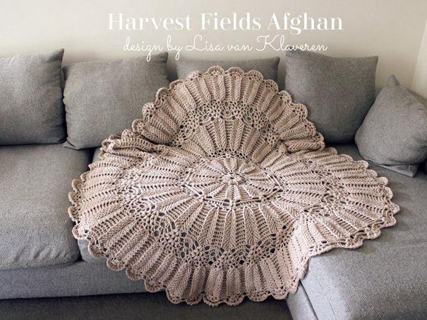 crochet Harvest Fields Afghan easy pattern