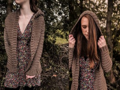 crochet Hooded Fall Cardigan free pattern