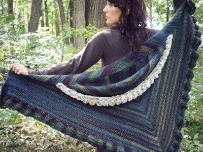 crochet Novella Shawl free pattern