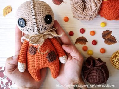 crochet Scary Sam Halloween Amigurumi easy pattern