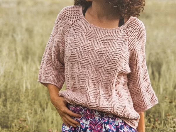 crochet Shining Pearl Sweater free pattern