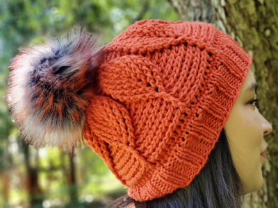 crochet The Birch Leaf Beanie easy pattern