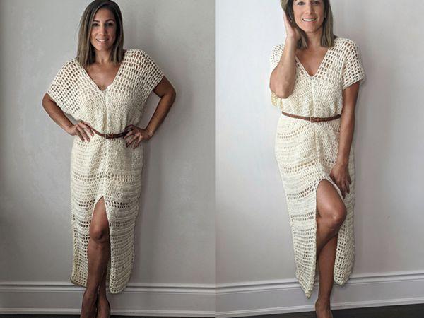 crochet The Everyday Maxi Dress free pattern