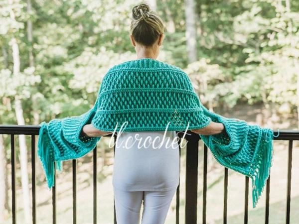 crochet Turnberry Pocket Scarf easy pattern