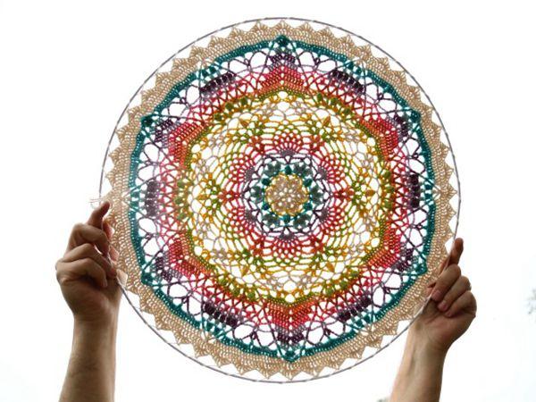 crochet Unseen Mandala free pattern