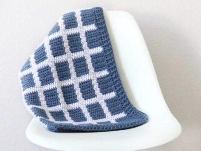 Windowpane Gingham Baby Blanket