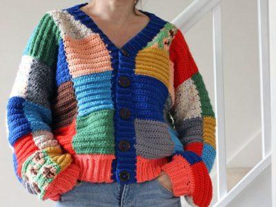 JW Anderson Crochet Cardigan free pattern