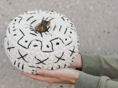 Mudcloth Crochet Pumpkin easy pattern