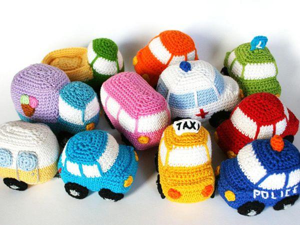 crochet 10 Little Cars amigurumi easy pattern