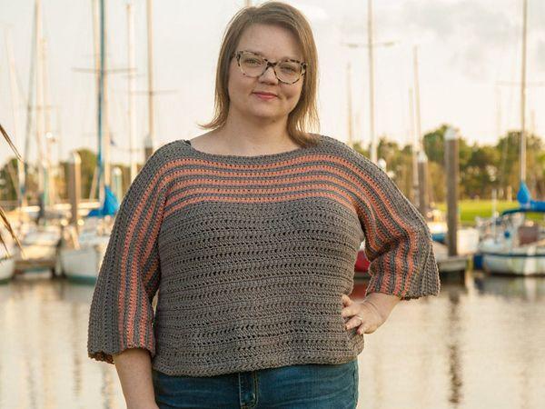 crochet Biel Sweater free pattern