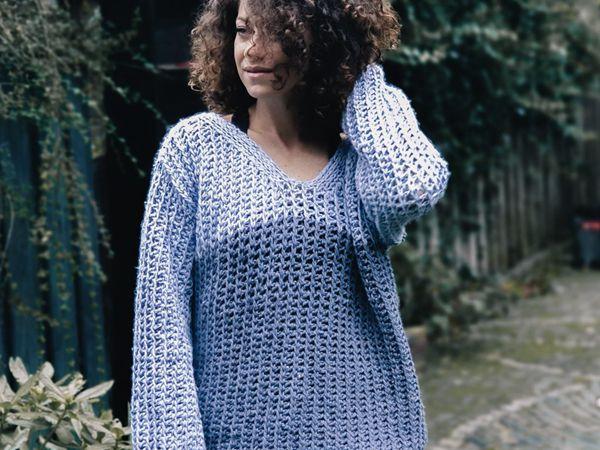 crochet Blue Moon Jumper free pattern