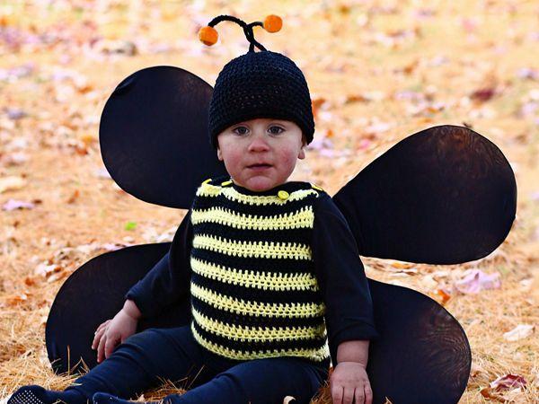 crochet Bumble Bee Costume free pattern