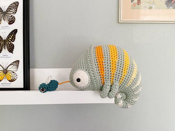 crochet Chameleon Conrad easy patterns