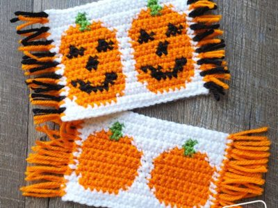 Cute Pumpkins Mug Rugs