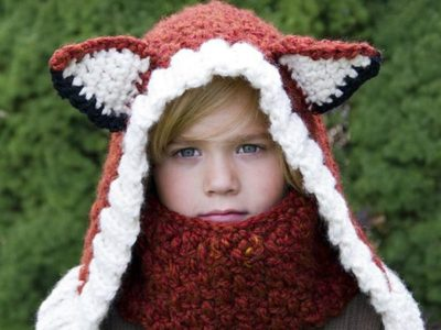 crochet Fox Cowl and Hood easy pattern